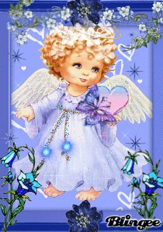 Vintage  Angel gifs | Blue Angel Baby Picture #86415615 | Blingee.com