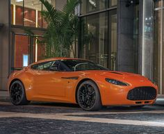 Twit twoo! This Aston Martin V12 Zagato  is a super fine addition to #SexySaturday. Find out more: www.ebay.com/itm/Aston-Martin-V12-Zagato-Orange-Jumbo-Poster-Super-Car-Print-48x32-Inches-/221414876238?