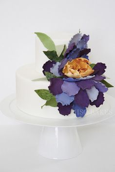 Wedding cake inspired by Vincent van Gogh's Irises painting.  Love.