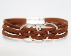 cool Womens Leather Bracelet Womens Bracelet Womens Gift for her Womens Jewelry Multi Strand Bracelet,leather bracelets for women
