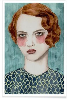 Sasha als Premium Poster von Sofia Bonati   JUNIQE