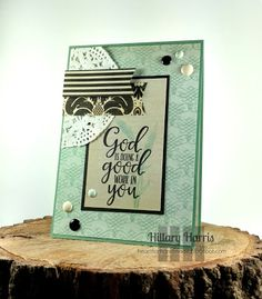 Heart for Handmade: Mojo Monday #451 using paper from Recollections and stamps from Verve. #recollections #vervestamps