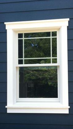 Exterior window trim windows shutters pinterest for Contractors window design