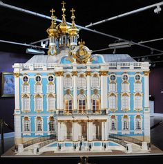Catherine Palace (miniature) donated to the KSB Miniatures Collection from collector Carole Kaye. (jt-visit to see interior)
