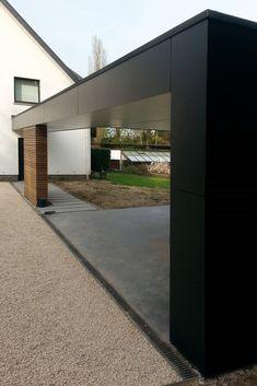 Carport Plans, Carport Garage, Garage Exterior, Garage House, Car Porch Design, Garage Design, Patio Design, Carport Modern, Double Carport