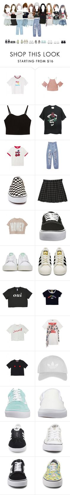 """ARIA •• practice"" by lumin-aria ❤ liked on Polyvore featuring Vans, StyleNanda, adidas Originals, adidas, Topshop and Converse"