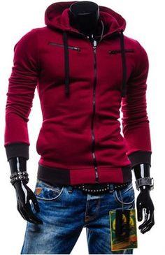 ƱɳỈϑҽƦʂσ ɱɑʂƈʊℓỈɳσ... Men's Slim Sweatshirts - Zipper Hoodie
