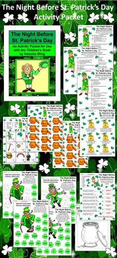 The Night Before St. Patrick's Day: St. Patrick's Day reading activity packet complementing the children's book by Natasha Wing.  Contents include: * One Reading Comprehension Quiz over The Night Before St. Patrick's Day * One Vocabulary Matching Worksheet * Two Rhyming Words Worksheets * One Sequencing Worksheet * Two Shamrock Phonics Activities * One Rhyme Completion Worksheet * Three coloring sheets * Answer Keys  #St. #Patrick's #Day #Leprechaun #Language #Arts #Reading