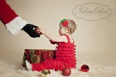 Melissa Calise Photography (Holiday Photoshoot Mini Session Ideas Santa Arm Christmas Ornament)