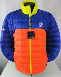 NWT Polo Ralph Lauren XL Mens RLX Color Blocked Explorer Packable Down Jacket  #PoloRalphLauren #BasicJacket
