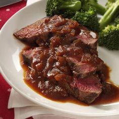 Grilled Sirloin with Chili-Beer Barbecue Sauce Ingredients: 1-½ cups beer or nonalcoholic beer 1 small onion, chopped ¾ cup chili sauce 2 tablespoons soy sauce 1 tablespoon brown sugar 2 teaspoons...