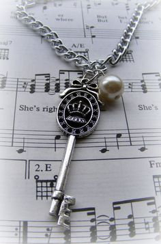 Long Necklace Key by Mindiemay on Etsy, $10.99