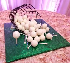 """Golfball cakeballs come together for this awesome groom's """"cake"""" www.kellyqscakes.com Walnut Kernels, Acacia Honey, Rehearsal Dinners, Clean Eating Snacks, Grooms, Pancakes, Wedding Day, Awesome, Pi Day Wedding"""