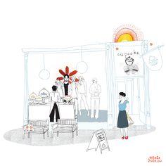 Illustration: Vibekehoie.no (cafe)