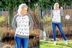 E-Book Schnittmuster Billund ein Basic Raglan Pullover für Damen bis Größe 54