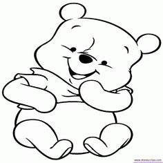 Awesome Disney Baby Pooh Printable Coloring Pages Page 2