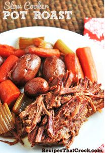 All Day Pot Roast for a Crowd | AllFreeSlowCookerRecipes.com