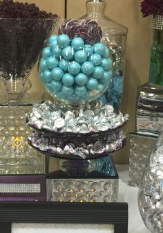 Teal and Purple candy buffet