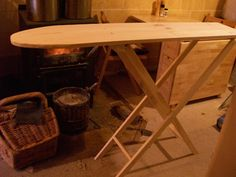 handmade wooden ironing board