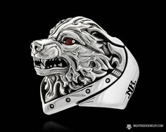 Find the Unleashed wolf's head biker ring in sterling silver and more bold biker rings and jewelry at NightRider Jewelry Ring Boy, Eagle Ring, Silver Eagles, Bracelets For Men, Sterling Silver Jewelry, 925 Silver, Beautiful Necklaces, Rings For Men, Red Garnet