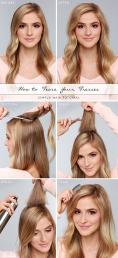 LuLus.com How-To: Tease your Tresses Hair Tutorial
