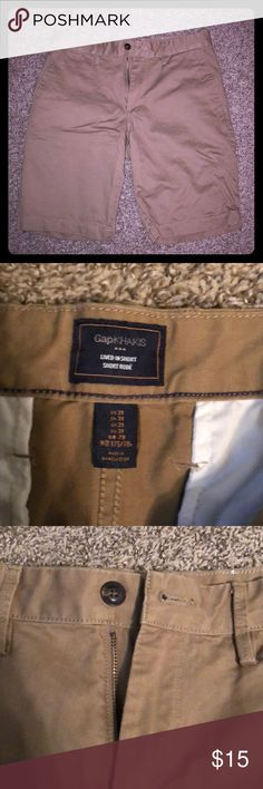 Gap Factory Khaki Shorts Gap Factory Khaki Shorts. Only worn once. Great condition. Size 31. GAP Shorts Flat Front