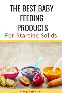The best baby feeding products for starting solids. Not sure what you need to get? Add these items to your baby registry today. #startingsolids #babyfood