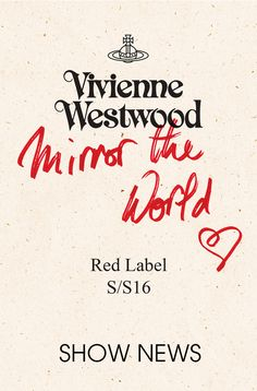 Shop Vivienne Westwood's latest designer collections on the official site today. Fashion Wall Art, Fashion Books, Vivienne Westwood, Typography Design, City Life, Picture Wall, Campaign, Label, Punk