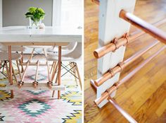 How To: Make a DIY Wood and Copper Pipe Dining Table » Curbly | DIY Design Community