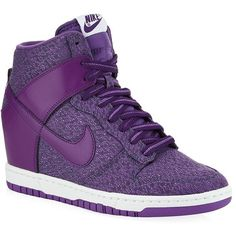 Nike Dunk Sky Hi Txt Trainer ($135) ❤ liked on Polyvore featuring shoes, sneakers, nike, nike trainers, nike shoes, nike footwear and high heel sneakers
