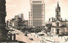 1949 - Largo do Paissandu. Cartão Postal. Acervo de Elizabeth Guedes Bezerra.