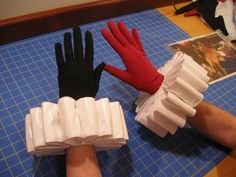 Harley Quinn cosplay gloves