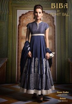 Biba by Rohit Bal. Such a clean and elegant design and color!
