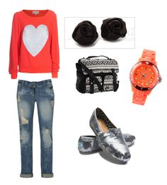 Simple and sweet Valentines Day outfit.