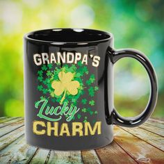 GRANDPA's Lucky Charm Great t-shirts, mugs, bags, hoodie, sweatshirt, sleeve tee gift for grandpa, granddad, grandfather from grandson, granddaughter, or any girls, boys, grandchildren, grandkids, friends, men, women on birthday, mother's day, father's day, grandparents day, Christmas or any anniversaries, holidays, occasions. Little Sister Quotes, Sister Poems, Father Daughter Quotes, Father Quotes, Family Quotes, Grandpa Quotes, Cousin Quotes, Grandmother Quotes, Aunt Gifts