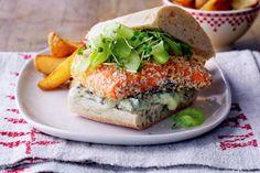 Gourmet fish burgers