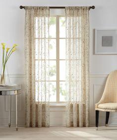 Gracie Sheer Rod Pocket Single Curtain Panel