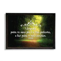 """Quadro decorativo - Salmos 119:105 """"Lâmpada para os meus pés é a tua palavra, e luz para o meu caminho."""""""