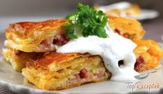 """Ultra Fast Lunch or Dinner made with Puff Pastry a """"What the House Gives Sour Cream Sauce, Hungarian Recipes, Food Goals, Tray Bakes, Quick Meals, Food For Thought, Finger Foods, Healthy Snacks, Brunch"""