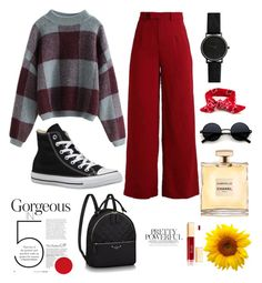 """Knitwear-Summer"" by ismirahmadiani on Polyvore featuring Converse"