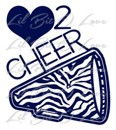 Zebra Love 2 Cheer Vinyl Decal with Megaphone Sticker Cheerleading AVAILABLE IN 24 COLORS | LilBitOLove - Housewares on ArtFire
