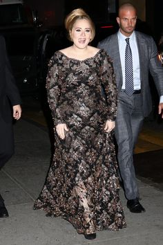 Adele Sparkles In A Dramatic Dress At Her Radio City Show