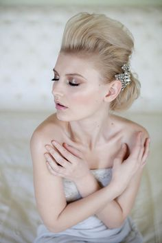 Vintage, Glamorous and Romantic Wedding Hair and Makeup Inspiration