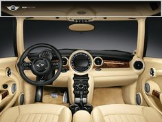 limited edition rolls royce mini interior. I want this!