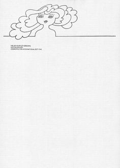 The Letterhead of Helen Gurley Brown, Editor-in-Chief, Cosmopolitan Magazine, 1997