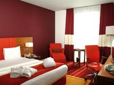 red hotel room