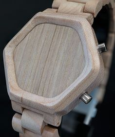 Kisai Night Vision Wood is a uniquely shaped USB rechargeable LED. Available in maple and sandal wood, it includes date, alarm and animation!