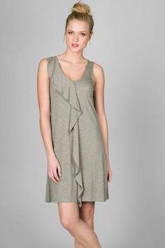 Flame Modal Sleeveless Ruffle Front Dress - FM1CR