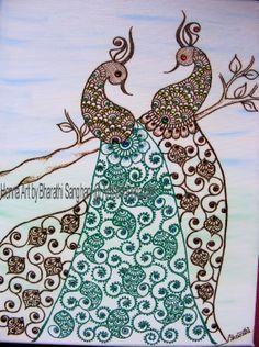 One of my favourites - The Twin Peacocks, I call them. Made for a client's wedding anniversary.