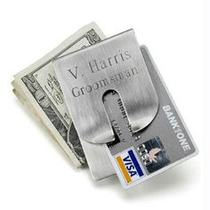 Personalized Harrison Clever Money Clip and Wallet